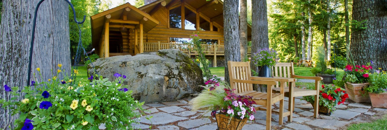 Log Lodge in the Summer
