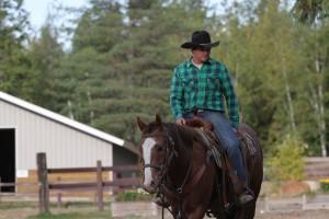 Isaac riding