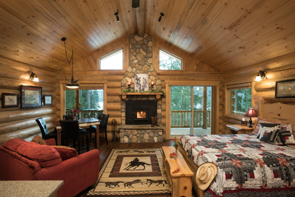 Cabin rental western pleasure guest ranch for Sandpoint lodge