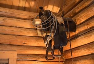 Western Pleasure Guest Ranch Wrangler Cabin Old Saddle