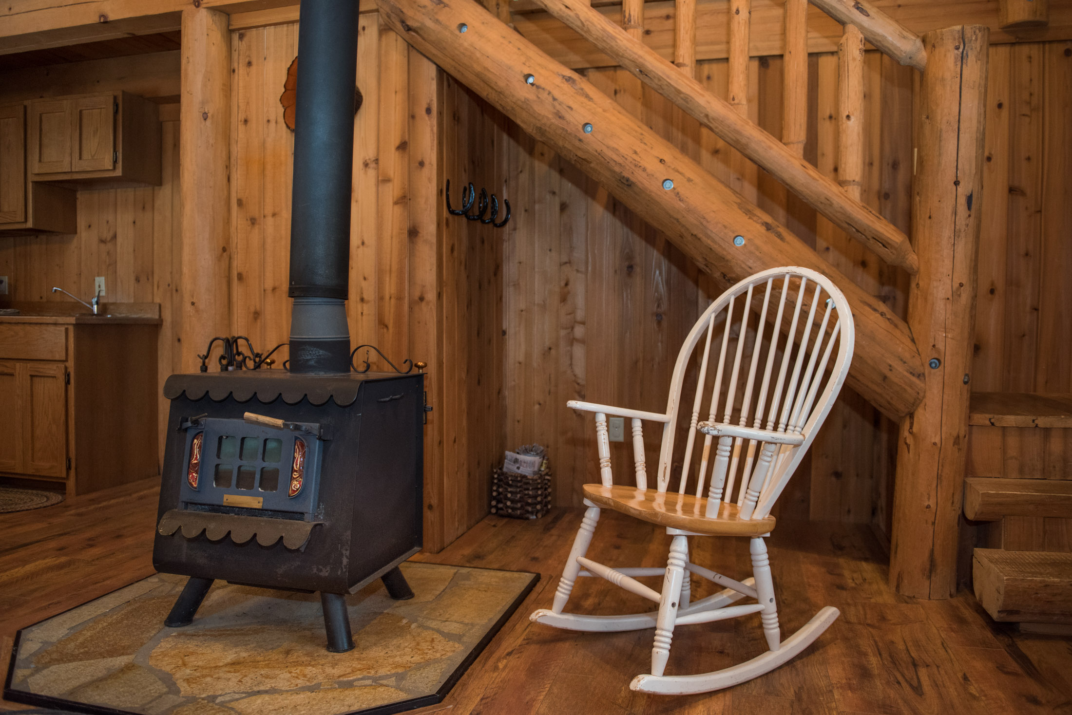 Western Pleasure Guest Ranch Settler Cabin Wood Stove