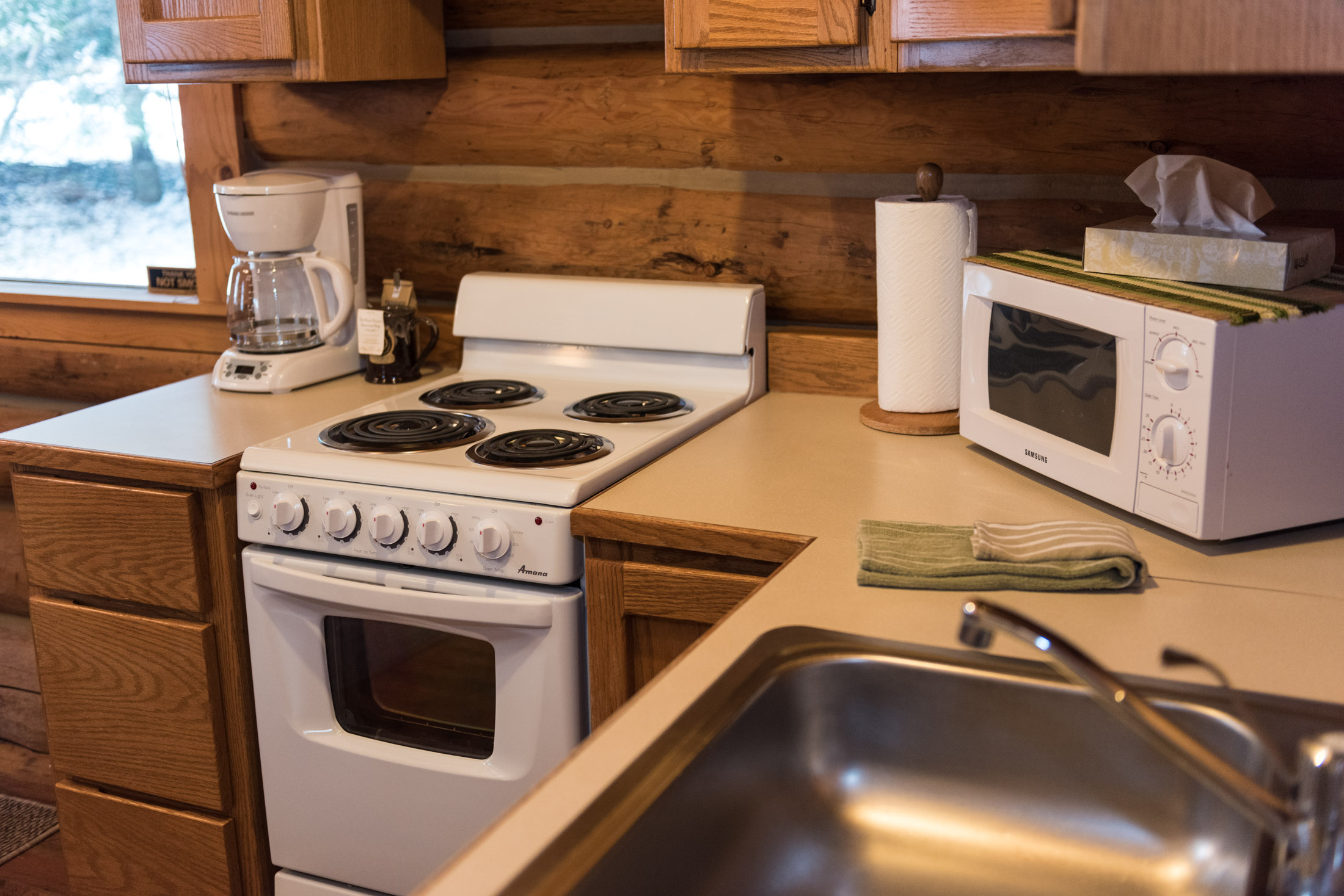 ... Stove; Western Pleasure Guest Ranch Settler Cabin Kitchenette ...