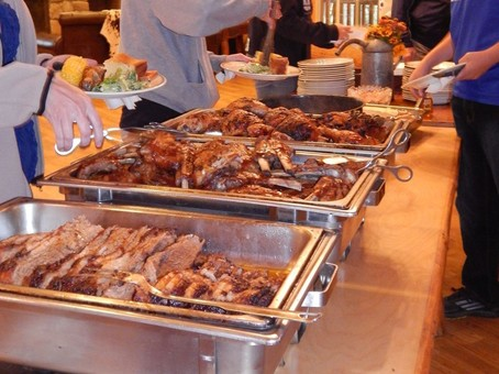 Dinner buffet style