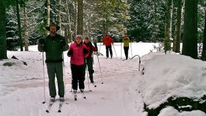 Staff out for a ski