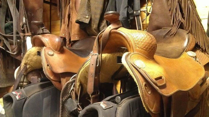 Close up of Saddles