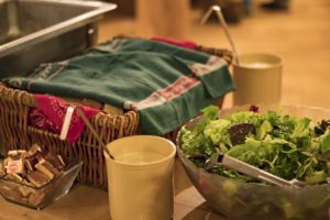ranch dining warm bread and salad