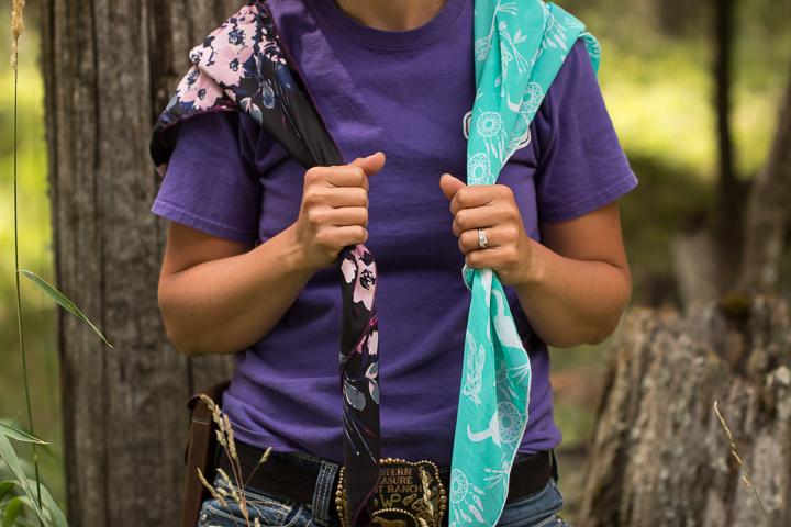 How to tie a wild rag - step one