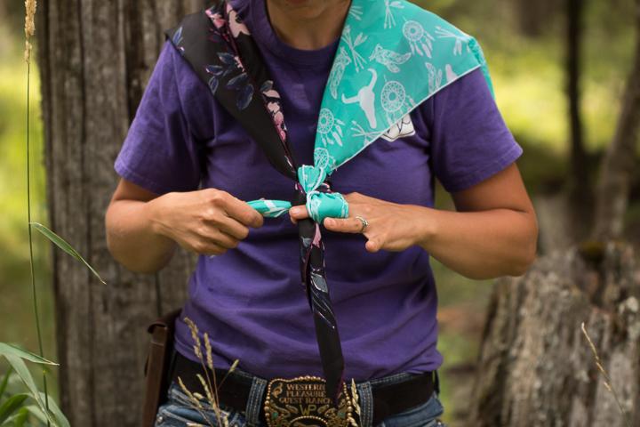 How to tie a wild rag - step six