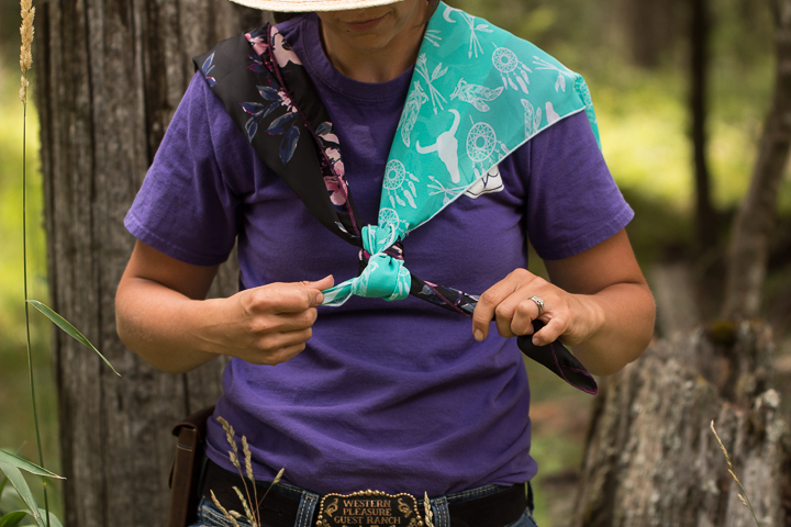 How to tie a wild rag - step seven