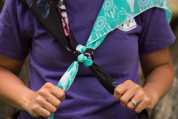 How to tie a wild rag - step eight