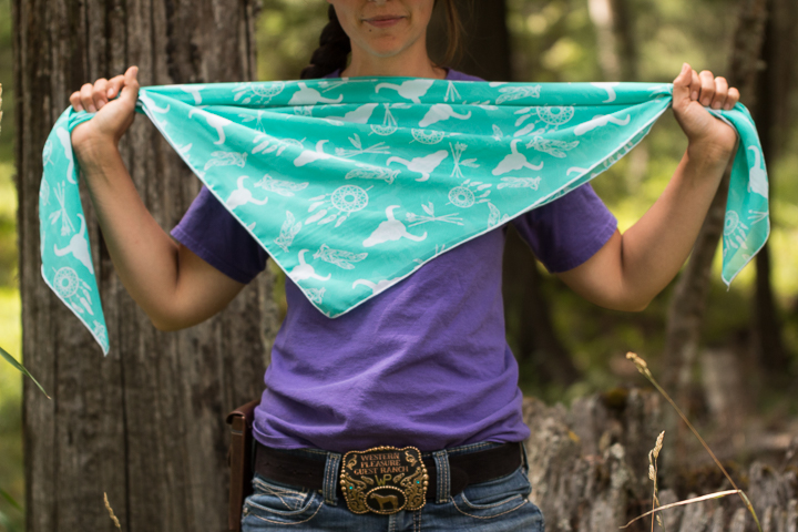 How to tie a wild rag - variation