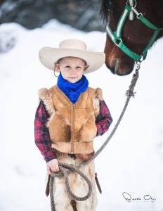 Little cowboy in the winter