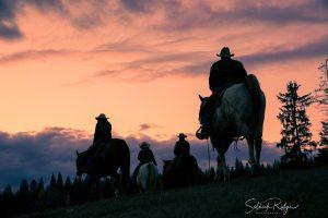 Western Lifestyle Cowboy Photography Sunset